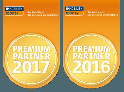 Wir sind Premium Partner bei Immobilinscout 2016 + 2017.